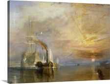 Premium Thick-Wrap Canvas Wall Art entitled The Fighting Temeraire Tugged to her