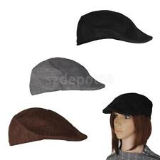 Mens Womens Beret Cap Cabbie Flat Peaked Baker Newsboy Gatsby Golf Driving Hat