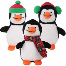 Grriggles SILLY CHILLY PENGUIN Dog Toy Holiday Squeaker Soft Plush Small Dogs 5""