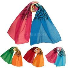 Fashion Women Soft Wrap Lady Silk Chiffon Scarf Girls Shawl Long Scarves 4M8M
