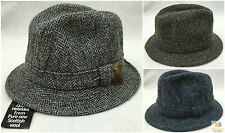 FAILSWORTH Elgin Fabric Hat Trilby Wool Winter Harris Tweed Made in UK 2281 New