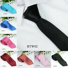 Mens Fashion Tie Necktie Wedding Party Chic Tie Striped Jacquard Woven Silk L14