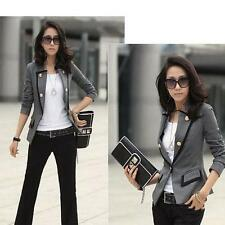 Fashion Women Lady Blazer Jacket One Button Slim OL Casual Suit Coat Outerwear
