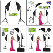 Photography Soft Box Light Bulbs Lighting Stand Boom Arm Photo Studio Kit