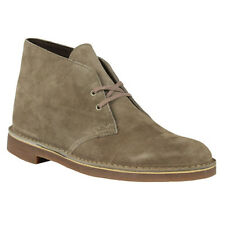 Clarks BUSHACRE 2 Mens Sand Suede 82285 Lace Up Comfort Chukka Ankle Boots