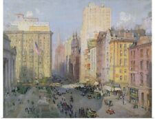 Poster Print Wall Art entitled Fifth Avenue, New York, 1913 (oil on canvas)