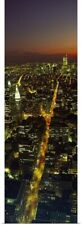 Poster Print Wall Art entitled Aerial view of a cityscape, World Trade Center,