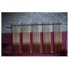 Poster Print Wall Art entitled Pool cues in rack
