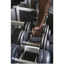 Poster Print Wall Art entitled Man taking weight from rack