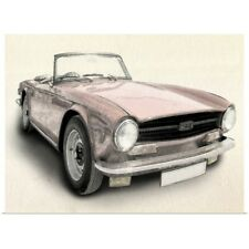 Poster Print Wall Art entitled Triumph TR6