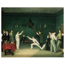 Poster Print Wall Art entitled A Fencing Scene, 1827 (oil on canvas)