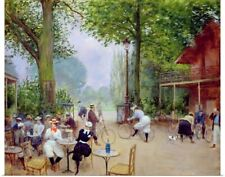 Poster Print Wall Art entitled The Chalet du Cycle in the Bois de Boulogne,