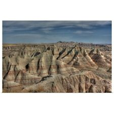 Poster Print Wall Art entitled Natural formations in Badlands of South Dakota,