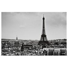 Poster Print Wall Art entitled View of city and Eiffel Tower, Paris, France.