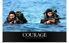 Poster Print Wall Art entitled Motivational Poster: Courage