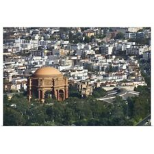 Poster Print Wall Art entitled Aerial view of the Palace of Fine Arts, San