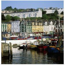 Poster Print Wall Art entitled Fishing Boats Moored At A Harbor, Cobh, County