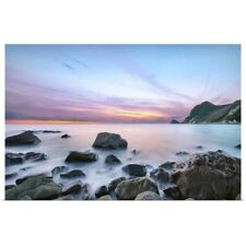 Poster Print Wall Art entitled Sunset at Ihama Rocky Beach