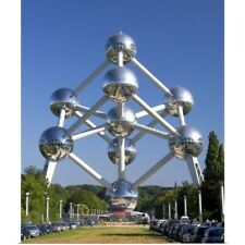 Poster Print Wall Art entitled The Atomium monument at Brussels, Belgium