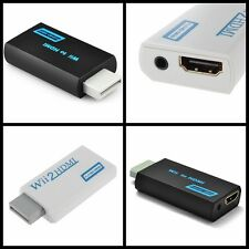 Wii to HDMI Wii2HDMI Full HD 1080P Converter Adapter 3.5mm Audio Output Jack New
