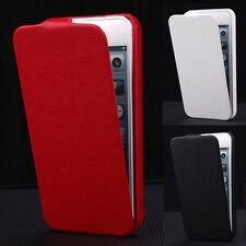 New Luxury Glossy PU Leather Flip Fitted Case Cover Pouch For Apple iPhone 5 5S