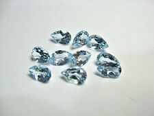 Natural Sky Blue Topaz Pear Cut Calibrated Size 3x4mm - 7x10mm Loose Gemstone