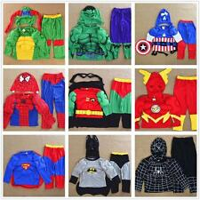 Boys Girls Kids  Muscle Costume Set Halloween Party Fancy Dress Up Cosplay Cloth