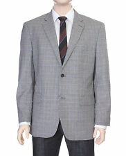 Tasso Elba Classic Fit White Houndstooth Two Button Wool Blazer Sportcoat