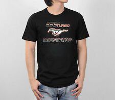 Ford Mustang GT Turbo Racing Pony US Muscle Car Art Graphic Logo Men Tee T-Shirt