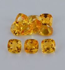 Natural Yellow Citrine Cushion Cut Calibrated Size 4mm - 8mm Loose Gemstone