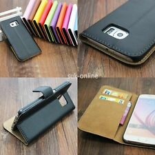 For LG Genuine Real Leather Flip Case Cover Skin Stand Wallet Card Holder