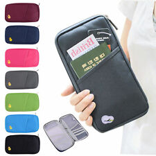 Travel Passport Holder Ticket Wallet Handbag ID Credit Card Case Bag Organiser