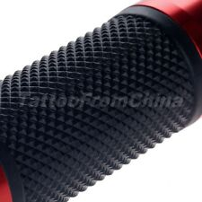 "CNC 7/8"" Universal Motorcycle Aluminum Rubber Gel Hand Grips For Sports Racing"