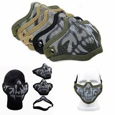Fangle Paintball Airsoft Gear Half Face Metal Mesh Tactical Protective Mask Prop
