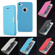 Slim Magnetic Folio Flip Leather Hard Back Case Cover Pouch for iPhone4 4s FO