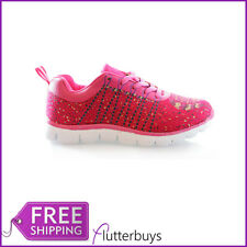 Womens TRAINERS sports mesh Running gym Fittness Daps Shoe size Ladies New