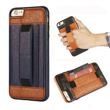 Luxury Leather TPU Wallet Back Case Safety Belt Cover Skin For iPhone 6 6s Plus