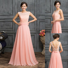 Plus Size Long Graduation Dress Prom Evening Gown Ball Party Bridesmaid Formal