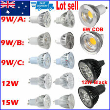 10x 5W 9W 12W 15W GU10 MR16 LED Light Lamp Epistar Cree Downlight Spotlight Bulb