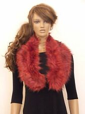 New womens Red 2 tone faux fur collar available in 8 colours