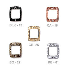 TierraCast Hammertone Drilled Rectangle Link - choose from 5 colors