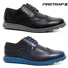 FIRETRAP Mens New Lace Up Brogues Smart Formal Work Light Weight Comfort Shoes