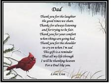 Dad Father Personalized Poem Gift For Fathers Day Birthday