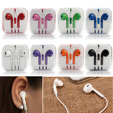 Earphones Headset Earbud with remote Mic for Apple iPhone 5 6S Plus iPod 3.5mm