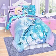 Disney Frozen Sister Flower Reversible 6pc Twin / 7pc Full Comforter & Sheet Set