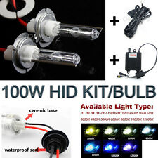 100W Car Auto HID Kit Conversion Headlight Xenon Lamp Bulbs Replacement Warranty