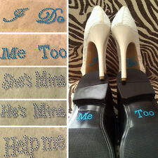 Fashion Bridal Groom Shoe Stickers Wedding Accessory Wedding Decals I Do Me Too