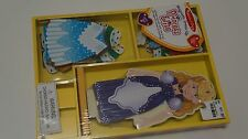 MELISSA & DOUG MAGNETIC DRESS UP PRINCESS ELISE WOODEN DOLL 24 PIECES CLOTHING