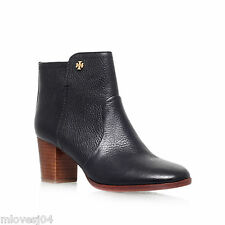 Tory Burch Sabe 65mm Ankle Boots Black grained Leather New BNIB UK 7 50 RRP £359
