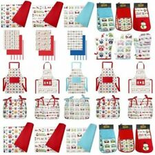 MATCHING KITCHEN COOKING APRON OVEN GLOVES CHAIR PADS PLACEMATS TOWELS COOKWARE